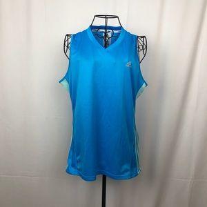 Adidas climacool blue/green running singlet L